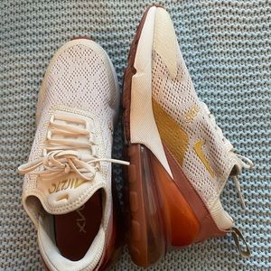 Nude and gold Nike 270